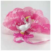 Dragées cigogne rose pour naissance