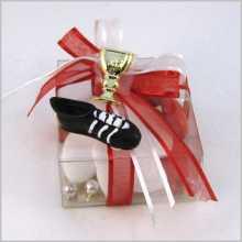 Dragées communion - chaussure foot avec prénom