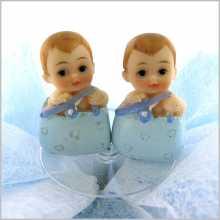 Dragées bébés jumeaux