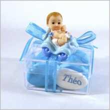 Boîte dragées avec bébé +prénom